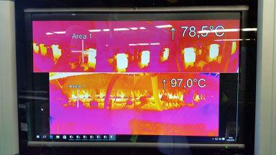 cepillado madera, Monitorización del cepillado de la madera mediante cámaras termográficas